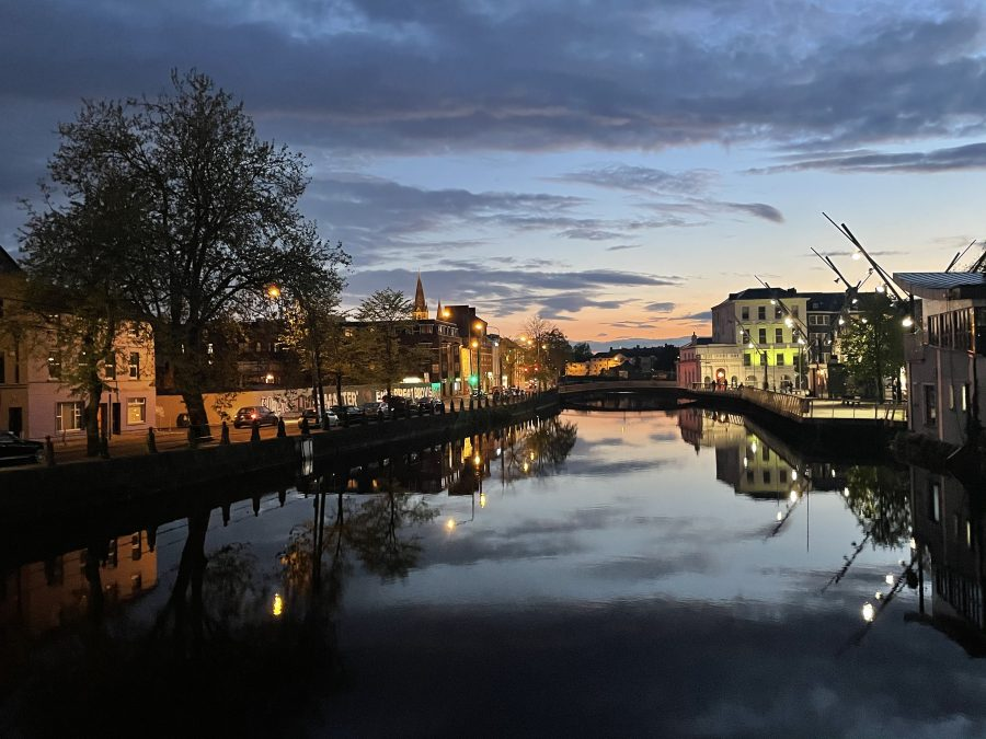 View from the Parliament Bridge of the South Channel of the River Lee, early May 2021 (picture: Kieran McCarthy)
