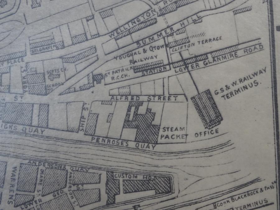 Cork's Cork-Dublin Railway Terminus, 1872 (source: Cork City Library)