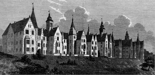 Cork Lunatic Asylum, 1852 from The Builder (source: Cork City Library)