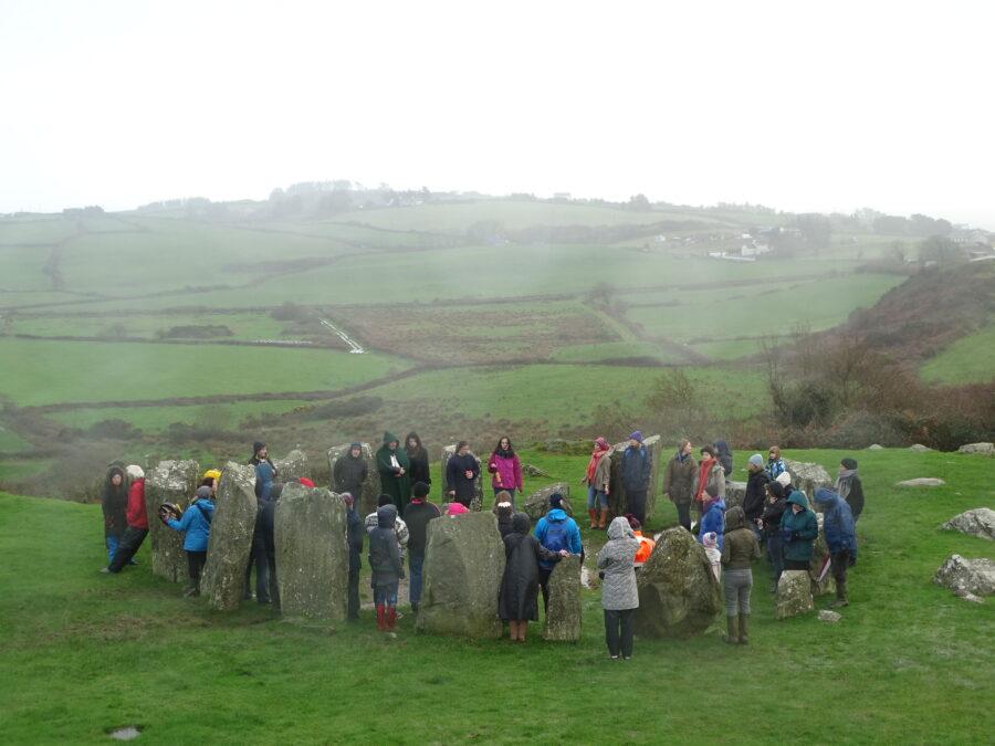 Drombeg Stone Circle, Winter Solstice 2018 (picture: Kieran McCarthy)