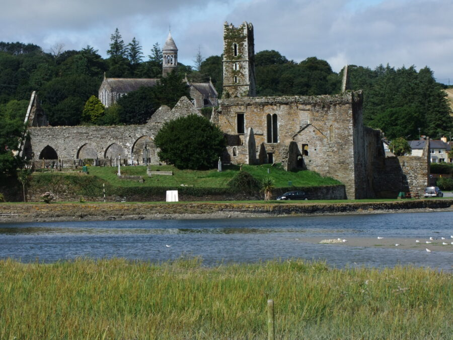 Timoleague Abbey adjacent Ilen River, Co. Cork, present day