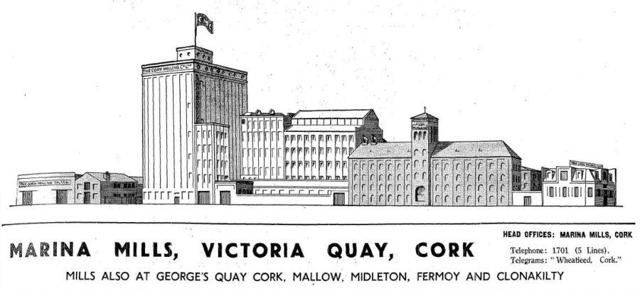 Cork Milling Company's Marina Mills, 1936 (source: Cork Examiner)